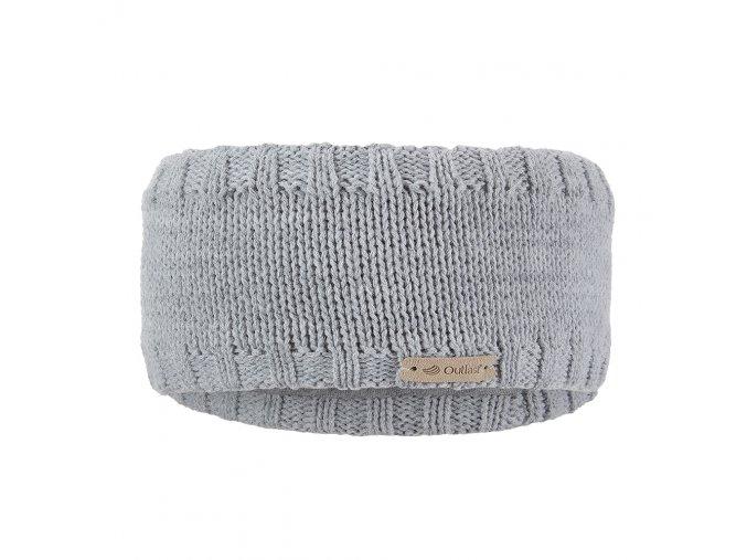 Čelenka pletená hladká Outlast ® - sv.šedá (Velikost 5   49-53 cm)