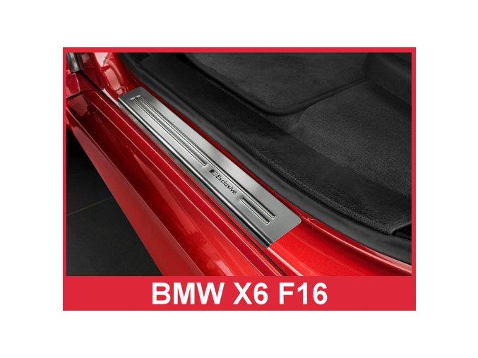 """OCHRANNÉ PRAHOVÉ LIŠTY BMW X6 F16 2014-> """"exclusive"""" 4ks 2/03014"""