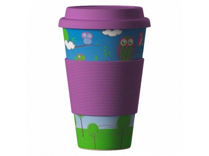 Bamboo Cup ekologický termohrnek 400ml – Owls