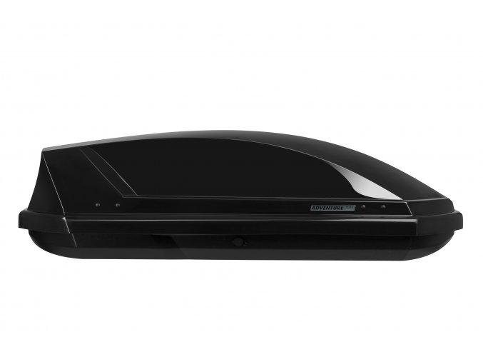 Autobox NEUMANN, Adventure 130 - černá lesklá, háček