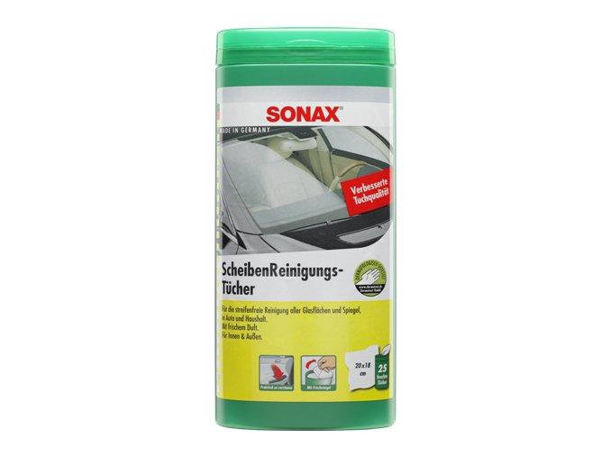SONAX Čistící ubrousky na okna - plastový box