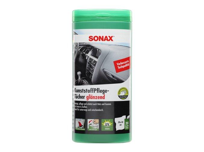 SONAX Čistící ubrousky na plasty - plastový box