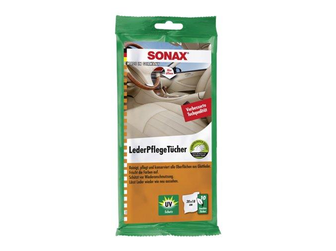 SONAX Čistící ubrousky na kůži - 10 ks
