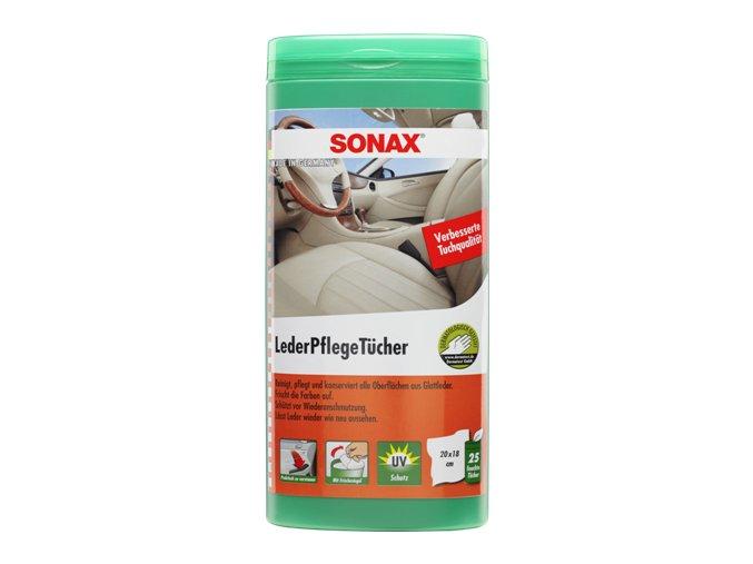 SONAX Čistící ubrousky na kůži - plastový box