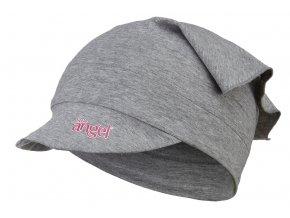 Šátek tenký kšilt Outlast® - šedý melír (Velikost 5   49-53 cm)