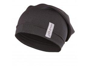 Čepice tenká dlouhá Outlast® - černá (Velikost 5   49-53 cm)
