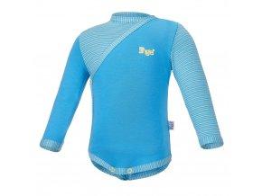 Body tenké zavinovací DR Outlast® - modrá/pruh modrožlutý (Velikost 68)
