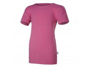 Tričko tenké KR Outlast® - tm. růžová (Velikost 164)