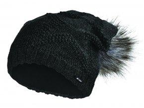 Čepice pletená žakárová hvězda Outlast ® - černá (Velikost 5 | 49-53 cm)