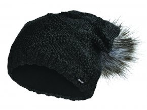 Čepice pletená žakárová hvězda Outlast ® - černá (Velikost 5   49-53 cm)