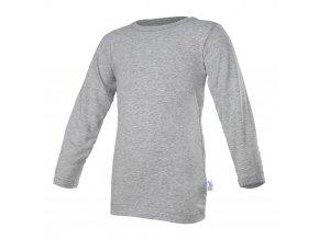 Tričko tenké DR Outlast® - šedý melír (Velikost 128)