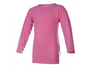 Tričko tenké DR Outlast® - tm. růžová (Velikost 128)