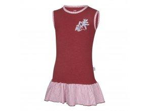 Šaty tenké Outlast® - bordová/pruh bordový (Velikost 104)
