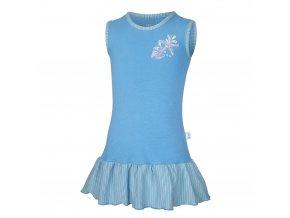 Šaty tenké Outlast® - modrá/pruh modrožlutý (Velikost 104)