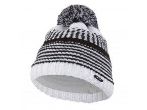 Čepice pletená pruhovaná Outlast ® - bíločerná (Velikost 5 | 49-53 cm)