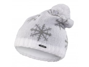 Čepice pletená spadlá VLOČKA Outlast ® - bílá (Velikost 5 | 49-53 cm)