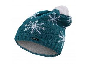 Čepice pletená spadlá VLOČKA Outlast ® - tm.mentolová (Velikost 4   45-48 cm)