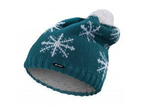 Čepice pletená spadlá VLOČKA Outlast ® - tm.mentolová (Velikost 5 | 49-53 cm)