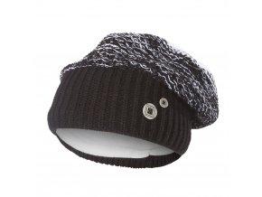 Čepice pletená baret Outlast ® - černobílá (Velikost 5 | 49-53 cm)