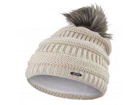 Čepice pletená 3D pruhy Outlast ® - sv.béžová (Velikost 5 | 49-53 cm)