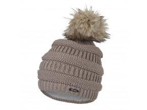 Čepice pletená 3D pruhy Outlast ® - kašmír (Velikost 5   49-53 cm)