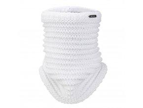 Nákrčník pletený Outlast ® - bílá lesk (Velikost 5   49-53 cm)