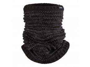 Nákrčník pletený Outlast ® - černá lesk (Velikost 5   49-53 cm)