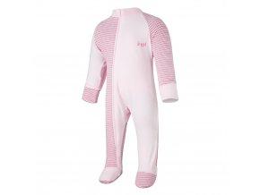 Overal tenký DR Outlast® - pruh růžovobordový/růžová baby (Velikost 92)