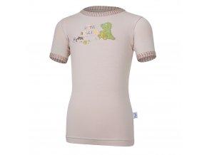 Tričko tenké KR obrázek Outlast® - sv.hnědá (Velikost 128)