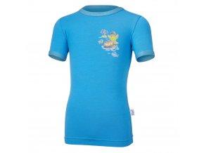 Tričko tenké KR obrázek Outlast® - modrá (Velikost 128)