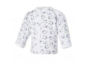 Kabátek podšitý Outlast® - bílá tm.modrá zvířátka/bílá (Velikost 62)