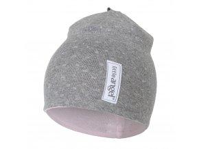 Čepice podšitá Outlast® - šedý melír lesk/růžová baby (Velikost 5   49-53 cm)