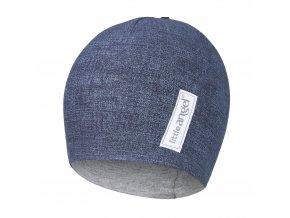 Čepice podšitá JEANS Outlast® - jeans/šedý melír (Velikost 5 | 49-53 cm)