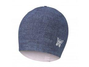 Čepice podšitá JEANS Outlast® - jeans/růžová baby (Velikost 3 | 42-44 cm)