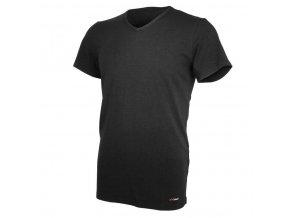 Tričko pánské KR tenké výstřih V Outlast® - černá (Velikost M)