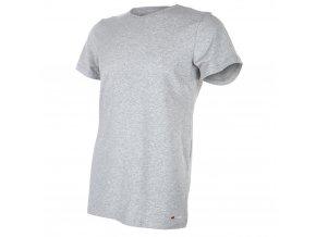 Tričko pánské KR tenké výstřih U Outlast® - šedý melír (Velikost M)