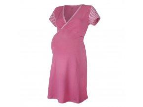 Noční košile tenká Outlast® - pruh sv.růžový (Velikost XL)
