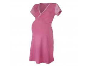 Noční košile tenká Outlast® - pruh sv.růžový (Velikost XXL)