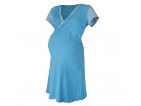 Noční košile tenká Outlast® - pruh azurový (Velikost XL)
