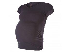 Tričko těhotenské KR tenké Outlast® - černá (Velikost XL)