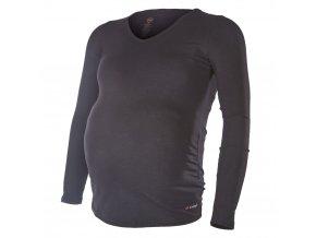 Tričko těhotenské DR tenké Outlast® - černá (Velikost XL)