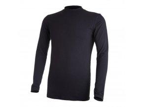 Tričko pánské DR tenké stojáček Outlast® - černá (Velikost M)
