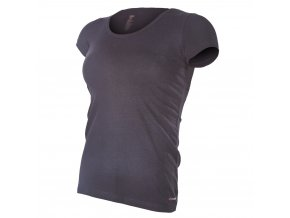 Tričko dámské KR tenké výstřih U Outlast® - černá (Velikost XL)