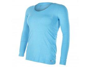 Tričko dámské DR tenké výstřih U Outlast® - azurově modrá (Velikost XL)