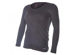 Tričko dámské DR tenké výstřih U Outlast® - černá (Velikost XL)