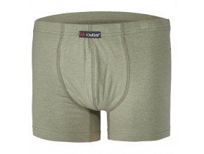 Boxerky pánské tenké plochý šev Outlast® - khaki (Velikost XXL)
