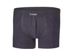 Boxerky pánské tenké plochý šev Outlast® - černá (Velikost XXL)