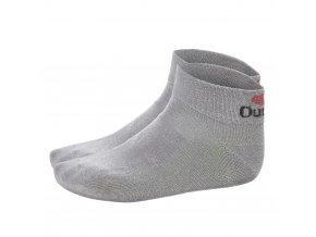 Ponožky nízké Outlast® - tm.šedá (Velikost 35-38)