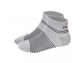 Ponožky nízké Outlast® - tm.šedá/pruh černý (Velikost 35-38)