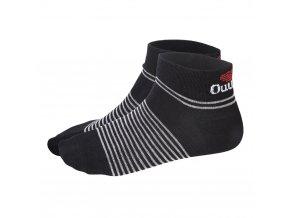 Ponožky nízké Outlast® - černá/pruh šedý (Velikost 35-38)